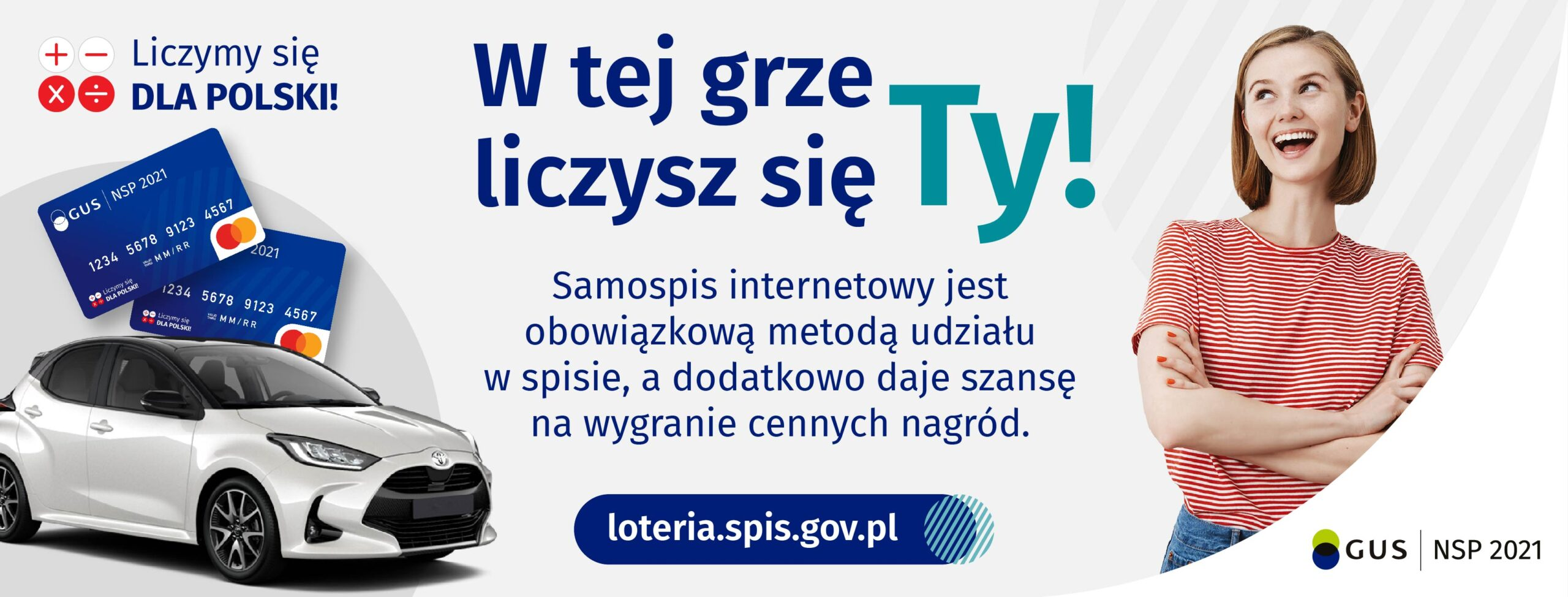 plakat loterii promujący spis powszechny